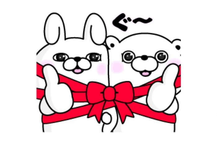 【LINE無料スタンプ】『うさぎ&くま100%×LINEギフト』が登場、配布期間は10月14日まで