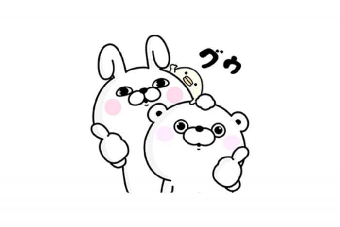 【LINE無料スタンプ】『うさぎ&くま100%×サントリー』が登場、配布期間は7月10日まで