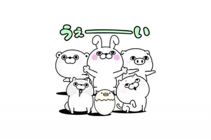 【LINE無料スタンプ】『うさぎ&くま100%と仲間達』が登場、配布期間は8月7日まで