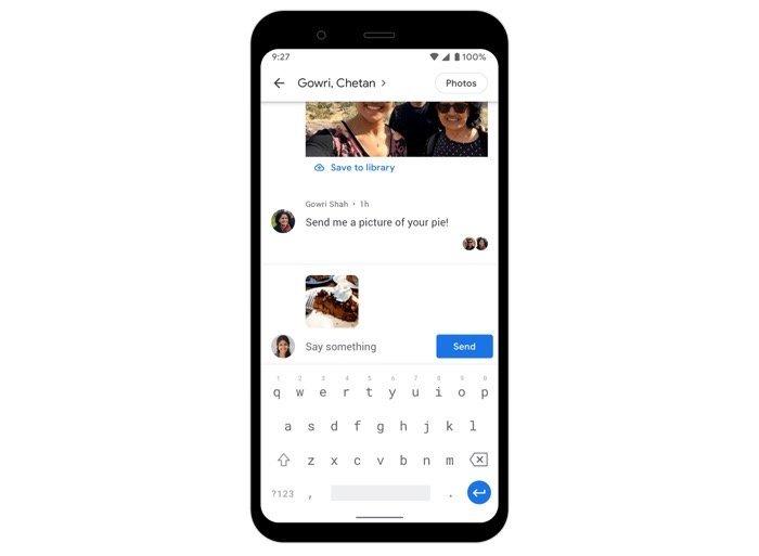 Googleフォト、写真の共有にチャット機能を導入
