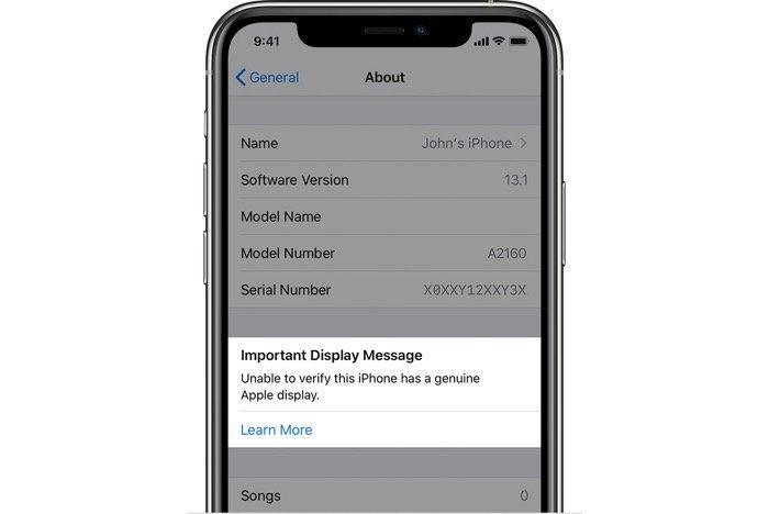 iPhone 11シリーズ、非純正のディスプレイに警告表示 画面割れ修理などで