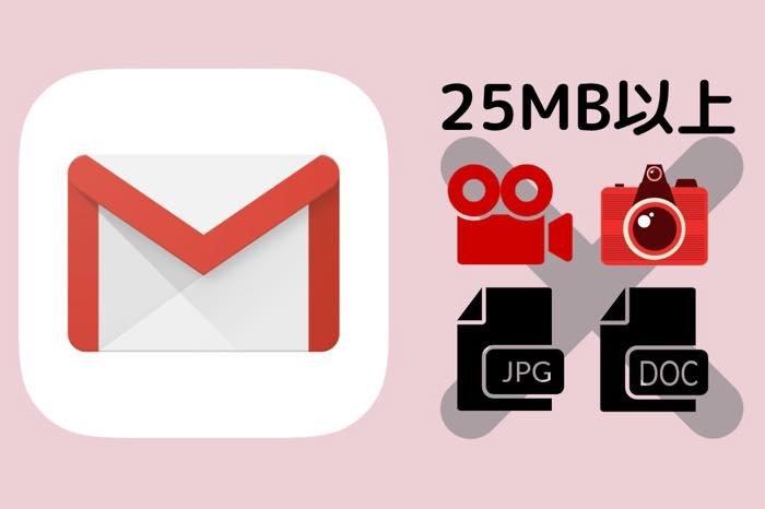Gmailの添付容量の上限は25MB、ファイルを送れない時の対処法
