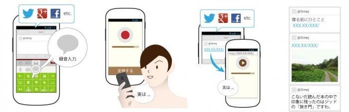 日本語入力アプリ「Simeji」がアップデート、音声メッセージをSNSに投稿できる録音入力機能を搭載