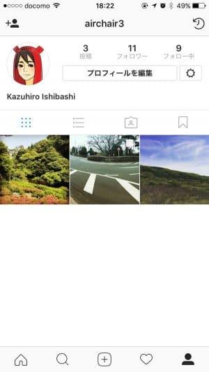 Instagram:プロフィール
