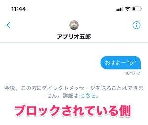 【Twitter】ブロックしてもDMは削除されない