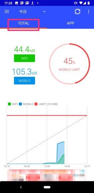 Android データ通信量管理アプリ 通信量モニター