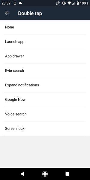 【Evie Launcher】ジェスチャー機能