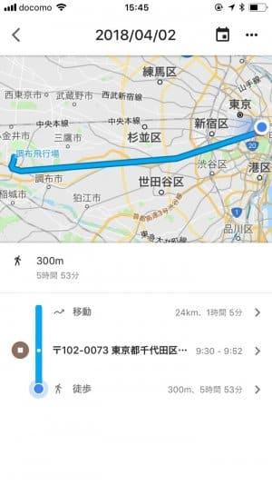 Googleマップ タイムライン