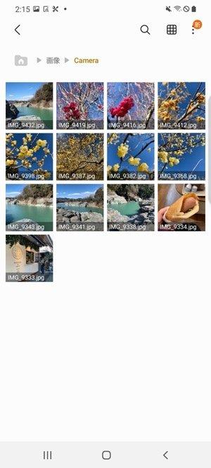 写真データの転送 SDカード