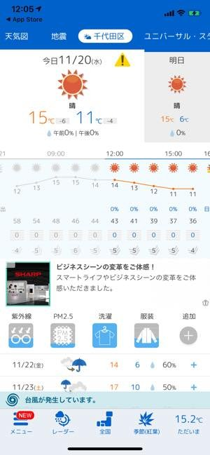 tenki.jp 天気予報アプリ