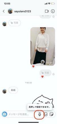 GIFアニメスタンプやボイスメッセージの送信