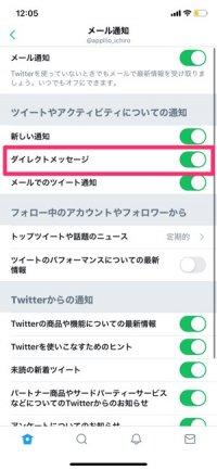 【Twitter】DMを通知する