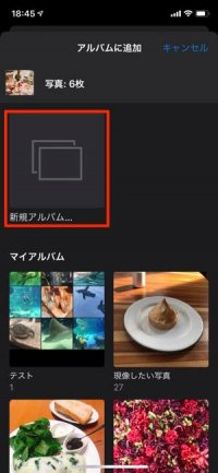 アルバム 作成 iPhone