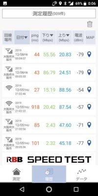 RBB SPEED TEST 回線速度測定 アプリ おすすめ