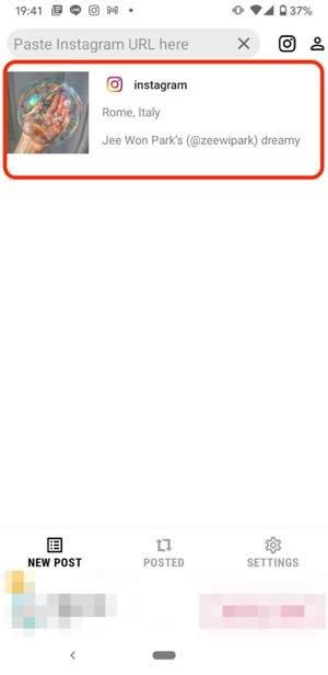 方法3:Androidならアプリ「Repost for Instagram」で保存