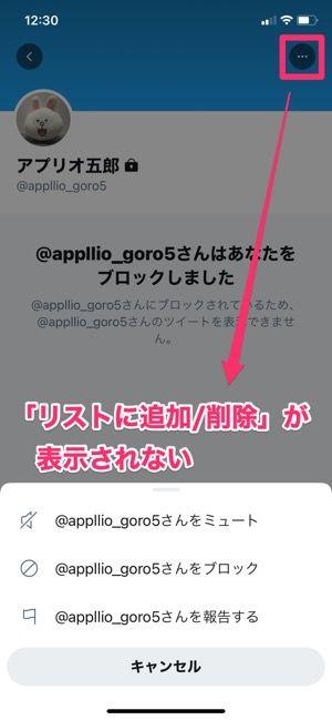 【Twitterリスト】リストに追加できないケース(ブロック)