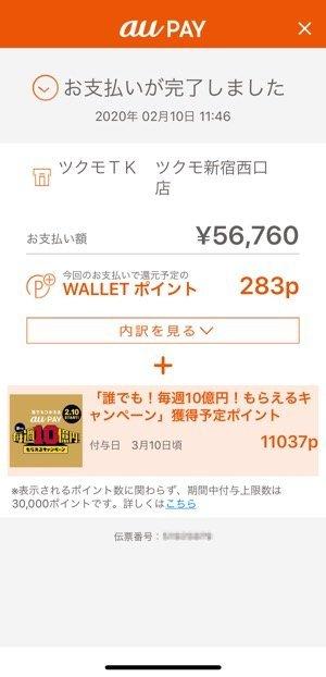 au PAY 20%還元キャンペーン 家電量販店