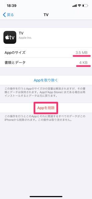 iPhone ストレージ容量