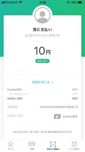 PayPay ペイペイ 使い方 送金