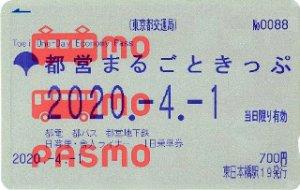都営まるごときっぷ PASMO