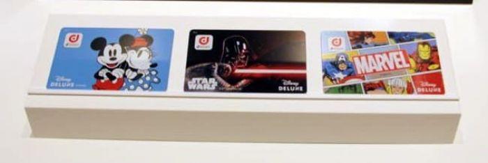 「Disney DELUXE」限定デザインのdポイントカード