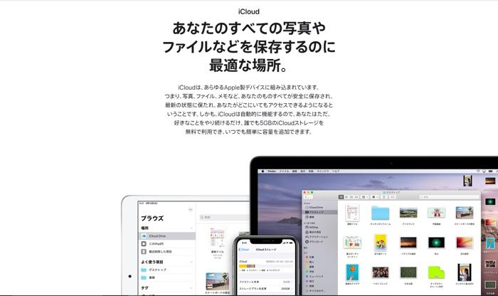 Apple Oneのサービス(iCloud)