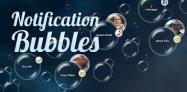 アプリ「Notification Bubbles Free」通知があると泡が浮いてくるライブ壁紙 #Android
