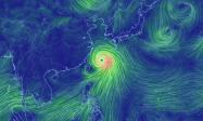 台風8号の風速をアニメーションで可視化する「Earth」が美しい