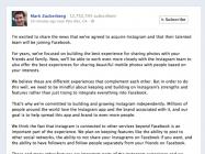 Facebook、Instagramを10億ドルで買収