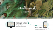 Googleマップが生誕10周年、これまでの軌跡を振り返る年表も公開