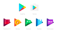 Google、Google Play関連のアイコンを統一感のあるデザインに刷新