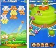 タイトーの人気ゲーム「LINE パズルボブル」が登場、AndroidとiPhoneで同時リリース