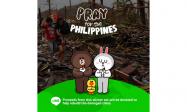 LINE、フィリピン救援金用スタンプ「Pray for the Philippines」を全世界で販売開始