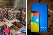 【流出】Googleの最新リファレンス機「Nexus 5」が発売間近、リテール外装箱と大量のダンボールの画像