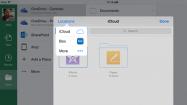 Officeアプリ、iCloudやBoxなど他のクラウドストレージとも連携