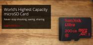 Sandisk、世界最大容量200GBのmicroSDカードを発表