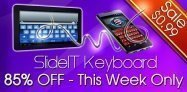 【セール】SlideIT Keyboardが85%オフ、指スライドですいすい打てる文字入力アプリ