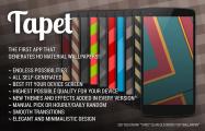 マテリアルデザインな壁紙を無限に自動生成できるアプリ「Tapet」、自分の好みを学習しネット接続も不要