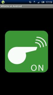 アプリ「ホイッスル on Android」笛の音が鳴りひびく #Android