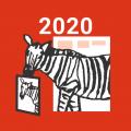 しまうま年賀2020
