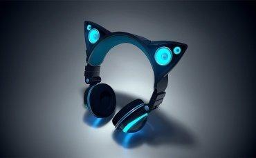 猫耳がスピーカーになるヘッドフォン「Axent Wear」、Kickstarterに登場へ