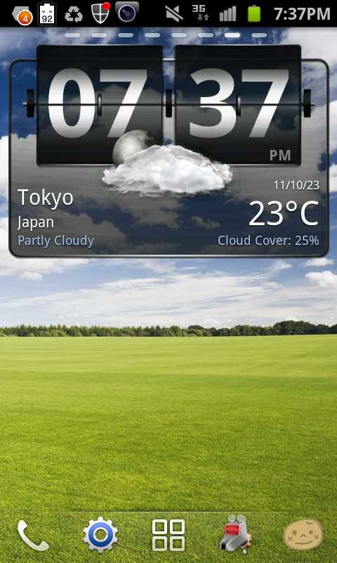 android-アプリ:Weather+ Free