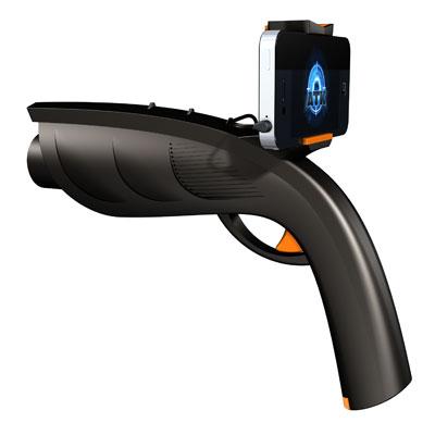スマートフォン用銃型コントローラー「Xappr Gun」で未来型サバイバルゲームが現実に